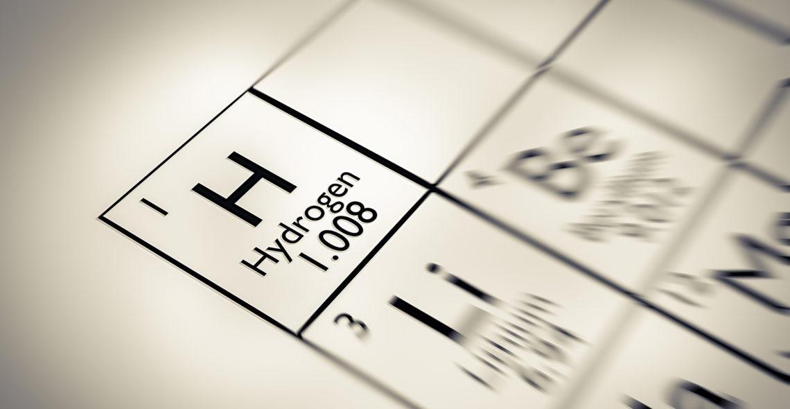 hidrógeno en la tabla periódica